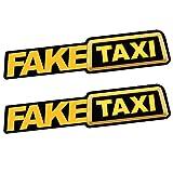 Eugeneq 2Pcs FAKE TAXI Car Sticker Decal Emblem Self Adhesive Vinyl Stickers for Car Van