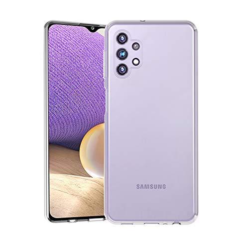 Wonantorna Cover per Samsung Galaxy A32 5G Custodia 6,5 '', [Anti-Giallo] [Ultra Sottile] [Antiurto] [Protezione da Caduta] Morbida in Silicone TPU Custodia per Samsung Galaxy A32 5G – Trasparente