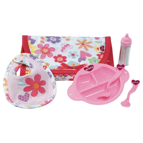 Adora Baby Doll 6 Piece Feeding Set with Bib & Bottle