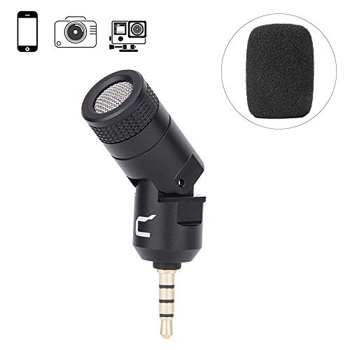 Comica CVM-VS07 Omnidirectional Shotgun Video Microphone Plug in Microphone for Gopro, Canon Nikon Sony Panasonic DSLR Cameras and Smartphone (No Need adapters)