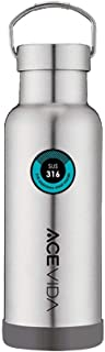 ACEVIDA Iron Insulated Water Bottle 17oz, BPA Free Water Bottle, 316 Stainless Steel, Double Wall Vacuum Water Bottle Keep Hot and Cold Liquid 12hr, Bottle for Outdoor and Indoor
