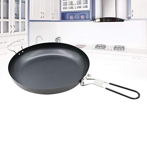 Oiuytghjkl 30cm Steak Gemakkelijk schoon Ronde Platte Basis Koken Niet Stick Draagbare Koekenpan
