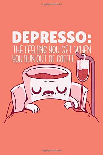 Depresso Log book: a great gift for a coffee lover | 120 pages