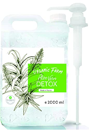 Suplemento alimenticio de Aloe Vera (2000 ml) ml Jugo Concentrado Orgánico Detox. Extra eficaz y con buen sabor. Con Dispensador 30 ml