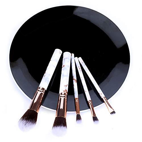 LILONGXI Pinceau De Maquillage,Blanc 5Pcs Set Pinceaux Doux De Kits Commodes pour Surligneur Eye Poudre Cosmétique Cosmétique Fondation l'ombre d'oeil Sourcils Professionnel