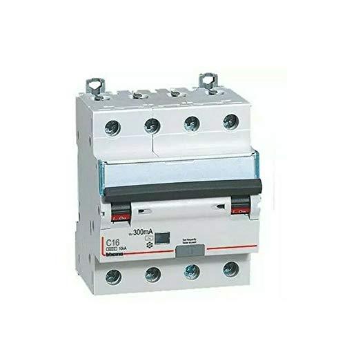 Interruptor magnetotérmico diferencial AC 4P 20A 4,5KA 30MA 4MD - Bticino LEGRAND G8843A/20AC
