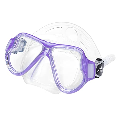 Kids Snorkel Mask Swim Diving Scuba Mask Snorkeling Gear for Kids Boys Girls Youth, Anti-Fog 180° Panoramic View Soft Silicone Skirt Kid Pool Underwater Swim Goggles with Nose Cover, Snorkel Equipment