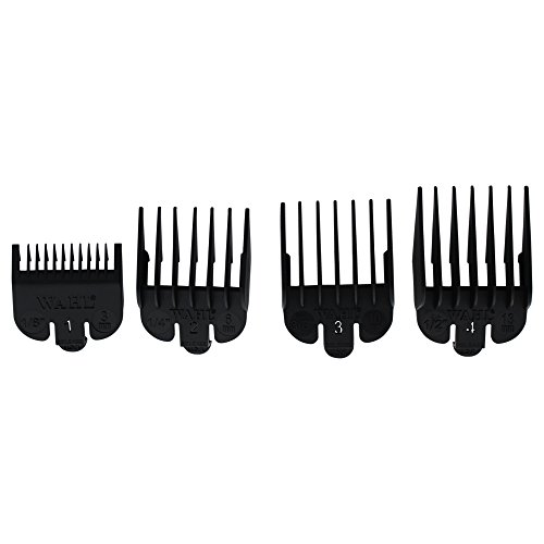 """Wahl Professional Clipper Guide #3160-100 – Great for Professional Stylists and Barbers – 4 Pack – Cutting Lengths from 1/8"""" to 1/2"""""""
