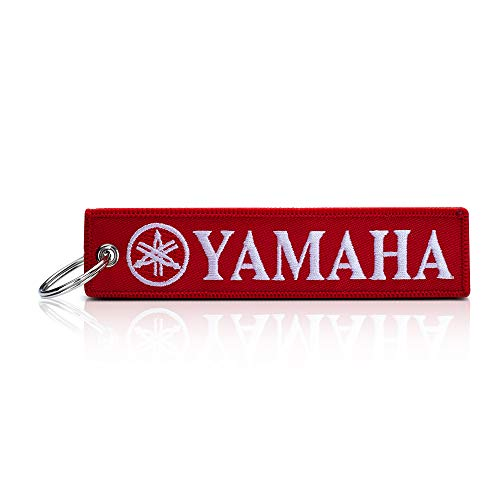 JIYUE 1pack Embroidered Tag Keychain Key Ring for Yamaha Motorcycles Bike Biker Key Chain Bag Phone ChainAccessories Gifts