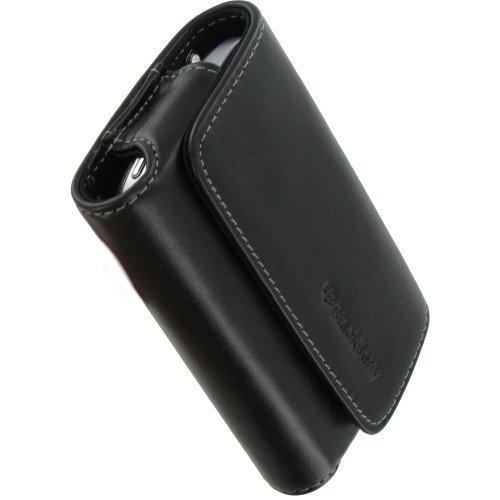 BlackBerry Orizzontale Leather Pouch Nero–Federe per telefoni cellulari, Bold 9000, Nero
