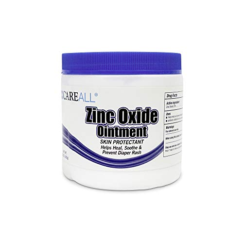CareALL 15 oz Zinc Oxide Skin Protectant Barrier Ointment Provides Relief and Treatment of Diaper Rash and Chafing. Helps Seal Out Wetness.
