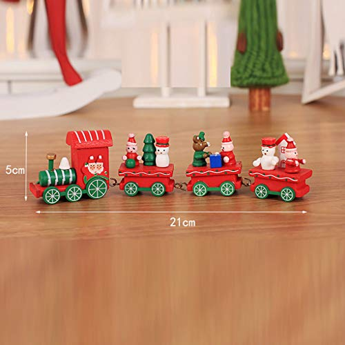 Fineday Wood Christmas Decorations Christmas Small Train Children Kindergarten Festive, Home Decor for Christmas Day (A)