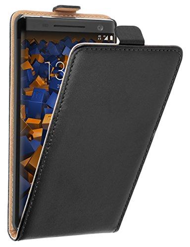 mumbi Tasche Flip Hülle kompatibel mit Nokia 8 Sirocco Hülle Handytasche Hülle Wallet, schwarz