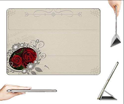 Case for iPad Pro 12.9 inch 2020 & 2018 - Roses Frame Background Image Marriage Wedding