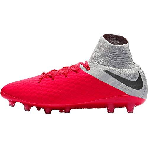 Nike Unisex-Erwachsene Hypervenom 3 Df Ag-pro Sneakers, Mehrfarbig (Lt Crimson/MTLC Dark Grey/Wolf Grey 001), 41 EU