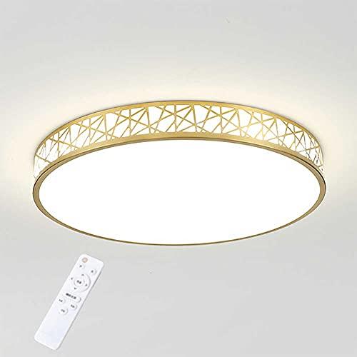 Sofar Runde Schlafzimmerlampe Deckenlampe führte einfache moderne Balkonlampe Kupfer Wohnzimmerlampe (Golden, φ50cm)