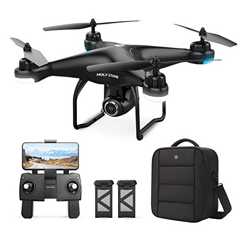8. Holy Stone HS120D GPS Drone with 2K UHD Camera Includes 2 Batteries and Carrying Backpack