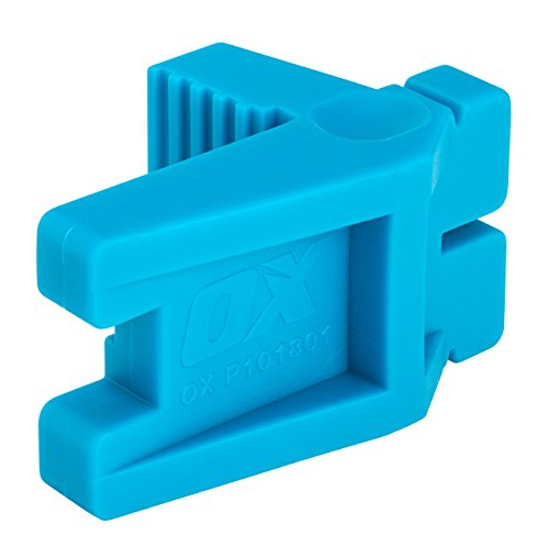 OX Bricklaying Tool - Rubber Corner Block - Line Blocks to Help Straight Brick Laying - Blue - 1...