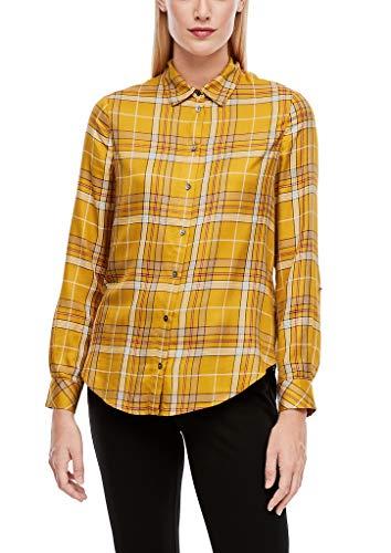 s.Oliver Damen Hemdbluse mit Karomuster Yellow Check 36