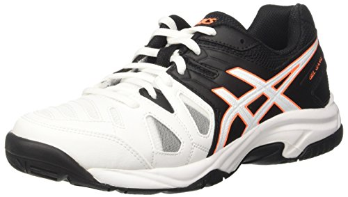 Asics Gel-Game 5 Gs, Zapatillas de Tenis, Infantil, Blanco (White/Onyx/Shocking Orange), 40...