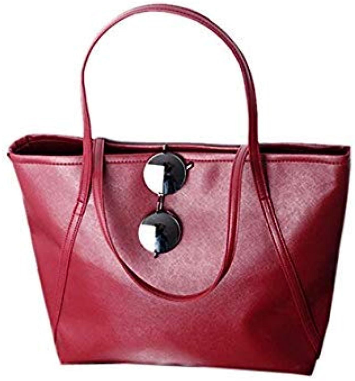 b5959eef196a8 Bloomerang New Simple Larger Capacity Leather Women Shoulder Bag Handbags  Tote Solid Women Messenger Bag Dropshipping