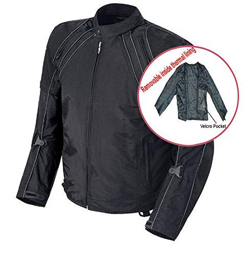 Herrenschutz Armour Biker Motorrad-Motorrad-Jacke Wasserdicht - 2