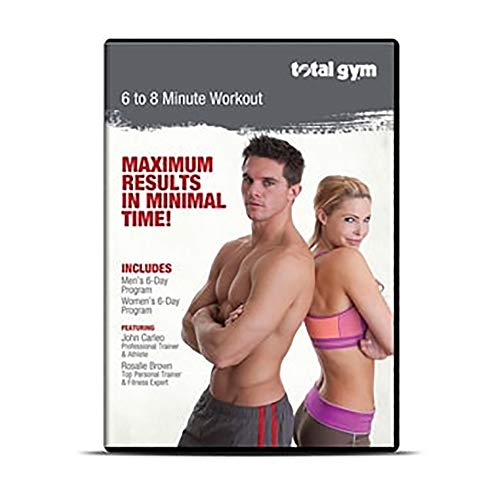 Total Gym DVDJC Men/Women Professional Total Body Workout Video with 12 Routines Led by John Carleo and Rosalie Brown