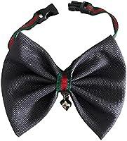 Şık Tasarım  Çıngıraklı Kedi Papyon Tasma Siyah