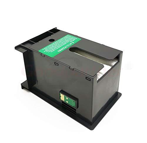Liupin Store 1 UNID X T6711 L1455 Caja de mantenimiento de tinta Fit para Epson WF 7610 7620 7720 7110 7210 7510 7615 7710 7715 3010 3520 3530 3540 3620 3640 3640 Fácil de instalar y conveniente.