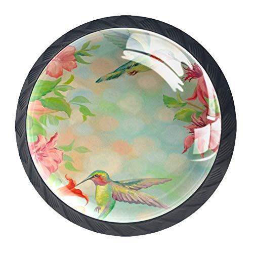 YATELI Perillas de extracción de para gabinetes,armarios,Puertas y cajones de Muebles: se Venden como un Paquete de 4 perillas,Pájaros de zumbidos