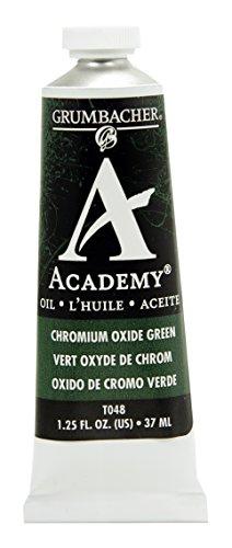 Grumbacher Academy Oil Paint, 37ml/1.25 Ounce, Chromium Oxide Green (T048)