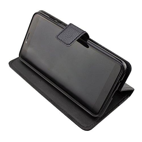 caseroxx Handy Hülle Tasche kompatibel mit Archos Core 57s Bookstyle-Hülle Wallet Hülle in schwarz