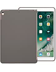 KHOMO iPad Air 3 10.5 (2019)/iPad Pro 10.5 (2017) skyddsskal för baksida kompatibel med smart cover och testning – kakao
