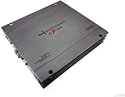 Excalibur X600.2 – Amplificador Coche 2 Canales, Potencia 1200w, Crossover Variable, 2 Ohms