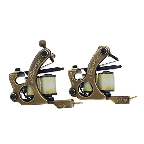 Thomas Tattoo Machine Coil Tattoo Gun Brass Frame(Liner&Shader)