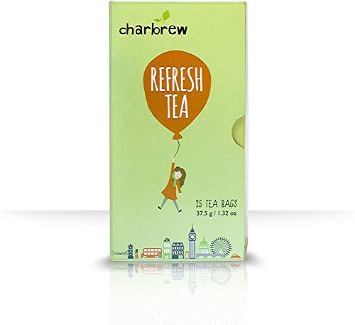 Refresh Tea - Verfrissende Thee - 4 x 25 Theezakjes (100 dagen) Van nature cafeïnevrij