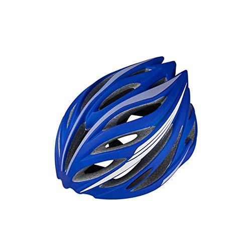 Casco BDwantan para bicicleta de montaña de carretera Casco de equitación integrado de gran tamaño para hombres y mujeres, transpirable (color: azul)