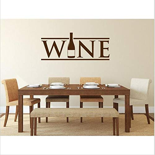 jiushivr Botella de Vino Pegatinas de Pared para Cocina Cartel de Pared Restaurante Comedor Papel Pintado Murales de Pared Vinilos Decorativos Vinilo Deco 42x107cm
