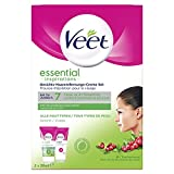 Veet pelo de la cara crema de eliminación Set para pieles sensibles con aloe vera y vitamina E