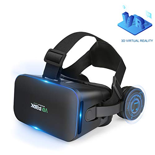 VR Headest Compatible with iPhone & Android, Universal Virtual Reality Goggles for Kids and Adults, 3D Movies and Educational Games Comfortable New 3D VR Glasses