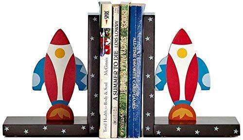 Sujetalibros, Extremos De Libros De Arte De Decoración, Lindos Dibujos Animados Con Forma De Cohete Sujetalibros De Madera Antideslizantes Para Niños Sujetalibros De Decoración De Regalo Muebles De Es