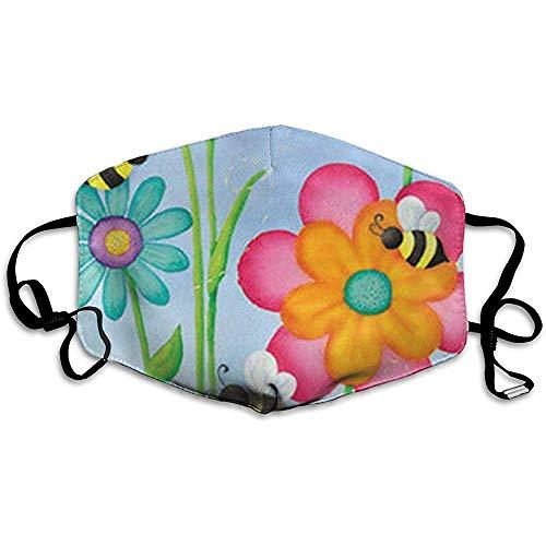 Stofvervuiling Masker plukken Honing Kleine Wesp Patroon Anti Stof Unisex Comfortabele Outdoor Wasbaar Herbruikbare Mooie Park Mond Masker afdrukken Mode Ontwerp Kleurrijke School Volwassen