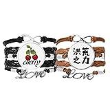 Bestchong Armband mit chinesischem Zitat, Magisches Power-Armband, Handschlaufe, Lederseil,...