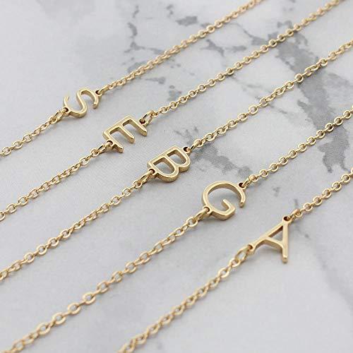 Fnho Crystal Rhinestone Saturn,Pearl Necklaces White Planet Crystal,Collar de Acero Inoxidable, Colgante de Letra A para Bricolaje