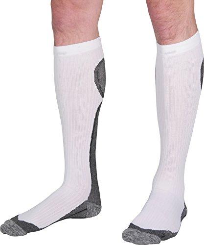 More Mile R2R Chaussettes de Compression pour Course à Pied Blanc 8,5-10,5