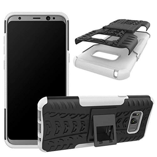 Capa Capinha Anti Impacto Para Samsung Galaxy S8+ Plus Tela6.2Case Armadura Hybrid Reforçada Com Desenho De Pneu - Danet (Preto com Branco)