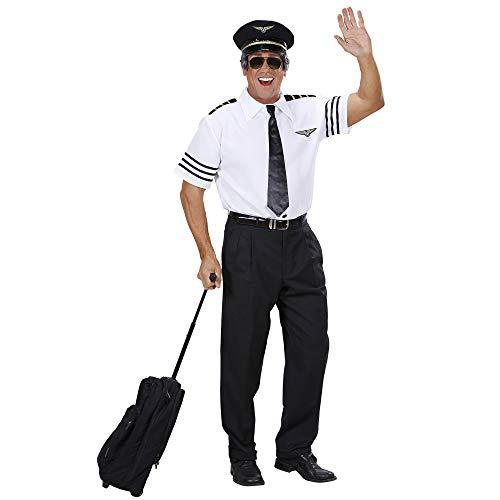 Widmann 74803 - Piloten-Set, Hemd, Mütze und Krawatte, Größe L