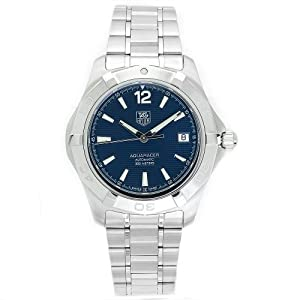 TAG Heuer Men's WAF2112.BA0806 Aquaracer Automatic Stainless Steel Blue Dial Watch image