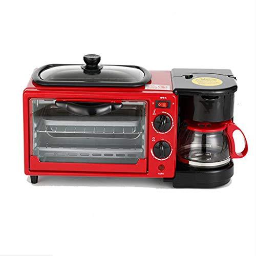 BTSSA Mini-Four, Inclus : Grille et Plaque de Four, 1100 W, 3 en 1 électrique Machine à Petit déjeuner Maison Machine à café,A