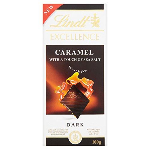 Lindt & Sprüngli Excellence Tafel, Caramel mit einem Hauch von Fleur de Sel, glutenfrei, laktosefrei, 10er Pack (10 x 100 g)